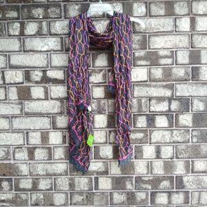Vera Bradley soft fringe scarf jazzy swirl print